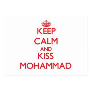 Keep Calm and Kiss Mohammad Business Card Template