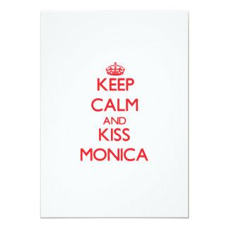 Keep Calm and Kiss Monica 5x7 Paper Invitation Card