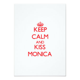 Keep Calm and Kiss Monica Personalized Invites