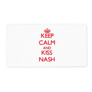 Keep Calm and Kiss Nash Shipping Label