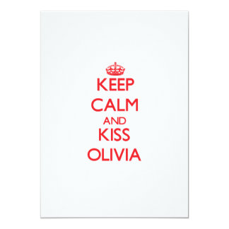 Keep Calm and Kiss Olivia Personalized Announcements