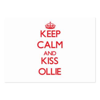 Keep Calm and Kiss Ollie Business Card Templates