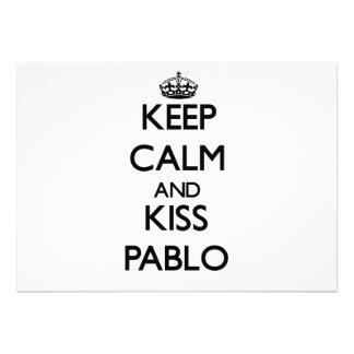 Keep Calm and Kiss Pablo Custom Announcements