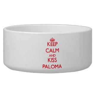 Keep Calm and kiss Paloma Dog Food Bowl