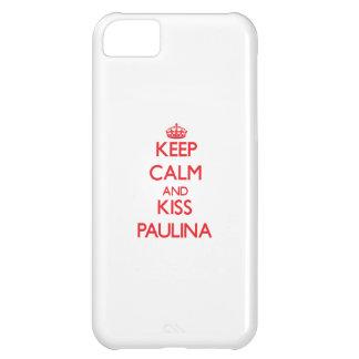 Keep Calm and Kiss Paulina iPhone 5C Cases