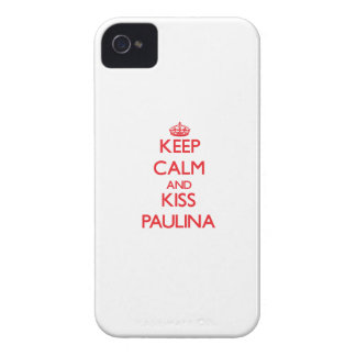 Keep Calm and Kiss Paulina iPhone 4 Case-Mate Cases