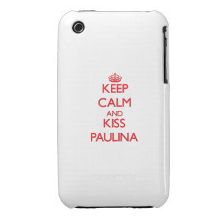 Keep Calm and Kiss Paulina Case-Mate iPhone 3 Cases
