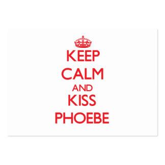 Keep Calm and Kiss Phoebe Business Card