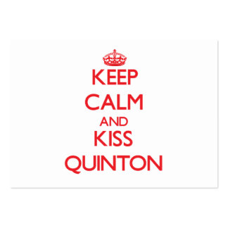 Keep Calm and Kiss Quinton Business Card Template