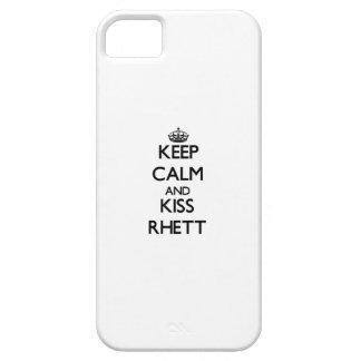 Keep Calm and Kiss Rhett iPhone 5 Cases