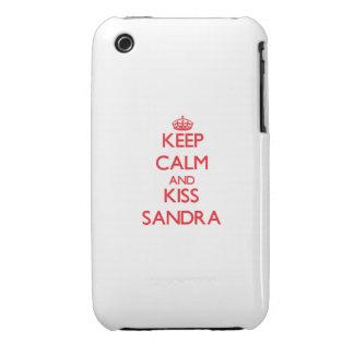 Keep Calm and kiss Sandra iPhone 3 Covers