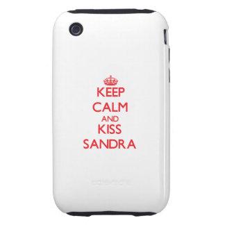 Keep Calm and kiss Sandra Tough iPhone 3 Cases