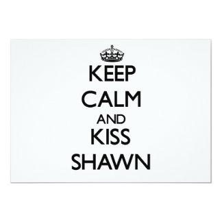 """Keep Calm and Kiss Shawn 5"""" X 7"""" Invitation Card"""