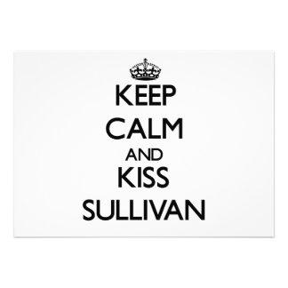 Keep Calm and Kiss Sullivan Personalized Invitations