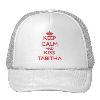 Keep Calm and kiss Tabitha Trucker Hat