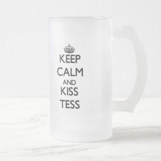 Keep Calm and kiss Tess Frosted Beer Mug