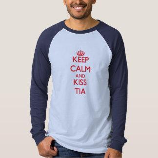 Keep Calm and Kiss Tia Tee Shirt