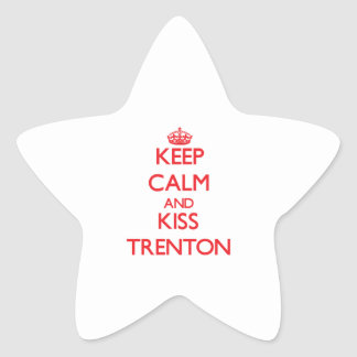 Keep Calm and Kiss Trenton Sticker