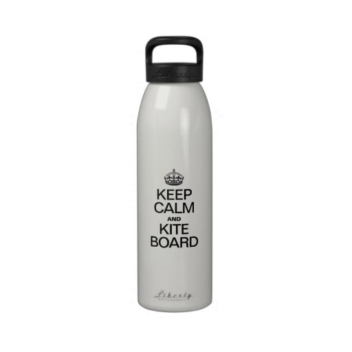 KEEP CALM AND KITE BOARD WATER BOTTLES