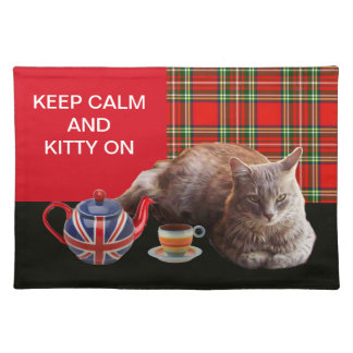 KEEP CALM AND KITTY ON PLACEMAT