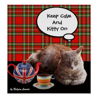 KEEP CALM AND KITTY ON POSTER