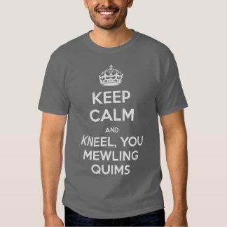 KEEP CALM and Kneel Tee Shirt