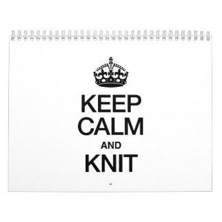 KEEP CALM AND KNIT CALENDAR