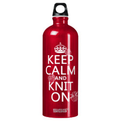SIGG Traveller Water Bottle (0.6L) with Keep Calm and Knit On design