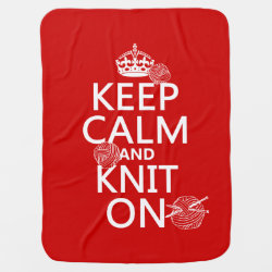 Baby Blanket with Keep Calm and Knit On design
