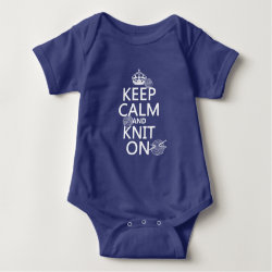 Baby Jersey Bodysuit with Keep Calm and Knit On design