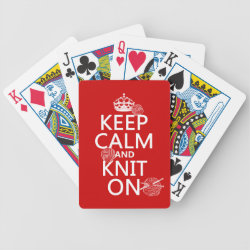 Playing Cards with Keep Calm and Knit On design