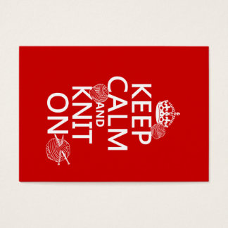 Keep Calm and Knit On - all colors Business Card