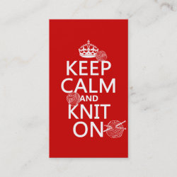 with Keep Calm and Knit On design