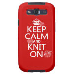 Keep Calm and Knit On - all colors Samsung Galaxy SIII Cases