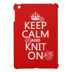 Case Savvy iPad Mini Glossy Finish Case with Keep Calm and Knit On design