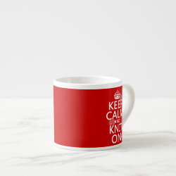 Espresso Cup with Keep Calm and Knit On design