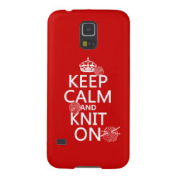 Case-Mate Barely There Samsung Galaxy S5 Case with Keep Calm and Knit On design