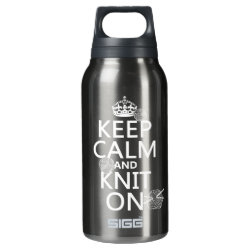 SIGG Thermo Bottle (0.5L) with Keep Calm and Knit On design