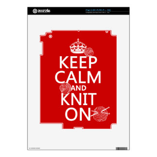 Keep Calm and Knit On - all colors iPad 2 Decal