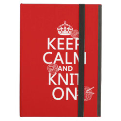 iPad Air Powis Case with Keep Calm and Knit On design