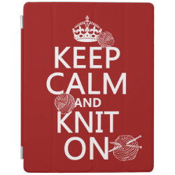 iPad 2/3/4 Cover with Keep Calm and Knit On design