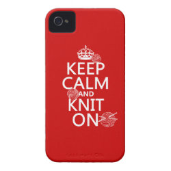 Case-Mate iPhone 4 Barely There Universal Case with Keep Calm and Knit On design