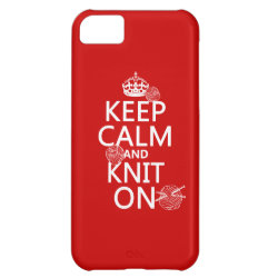 Case-Mate Barely There iPhone 5C Case with Keep Calm and Knit On design