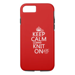 Case-Mate Barely There iPhone 7 Case with Keep Calm and Knit On design