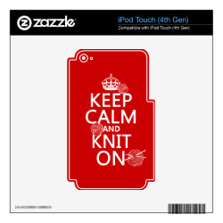 iPod Classic (80/120/160GB) Skin with Keep Calm and Knit On design