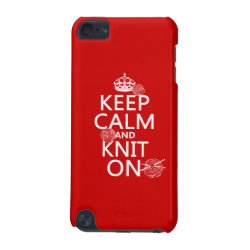 Case-Mate Barely There 5th Generation iPod Touch Case with Keep Calm and Knit On design