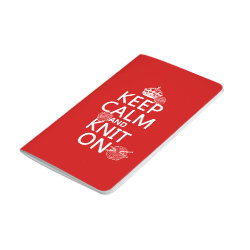 Pocket Journal with Keep Calm and Knit On design