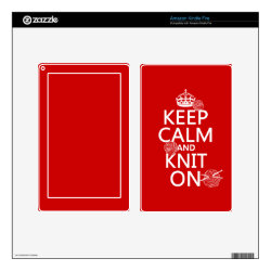 Amazon Kindle DX Skin with Keep Calm and Knit On design