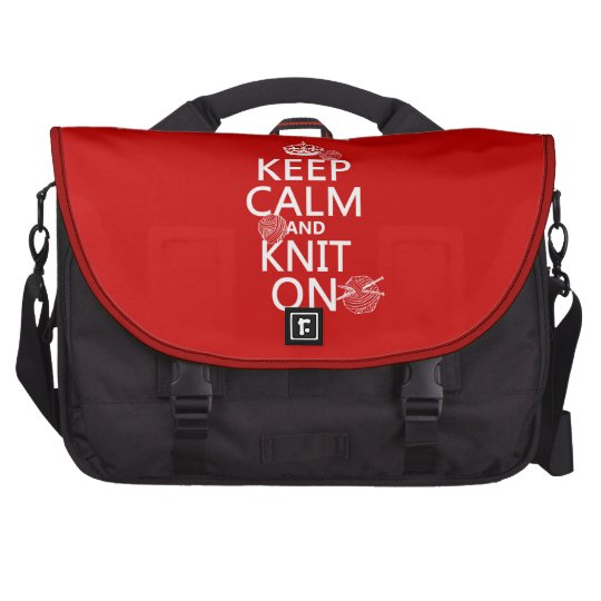 Keep Calm and Knit On - all colors Laptop Bags