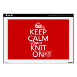 17' Laptop Skin for Mac & PC with Keep Calm and Knit On design